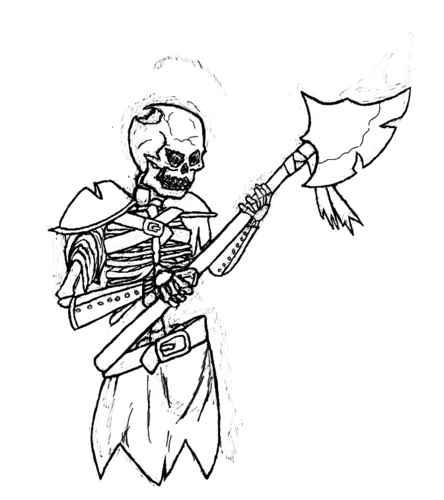 Drawn skeleton skeleton warrior Wesnoth Battle Warrior skelewarrior View