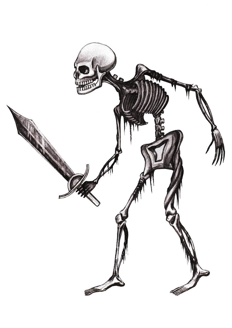 Drawn skeleton skeleton warrior Skeleton ArtyomDesign by Warrior Skeleton