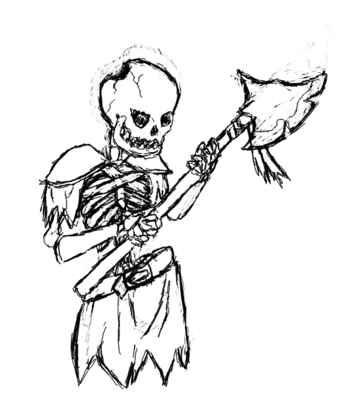 Drawn skeleton skeleton warrior Battle Skeleton for • skelewarrior