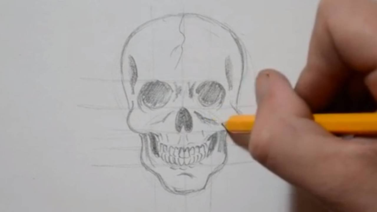 Drawn ssckull tutorial A Under Drawing How 4