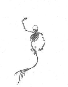 Drawn sleleton small Spine References drawing  mermaid