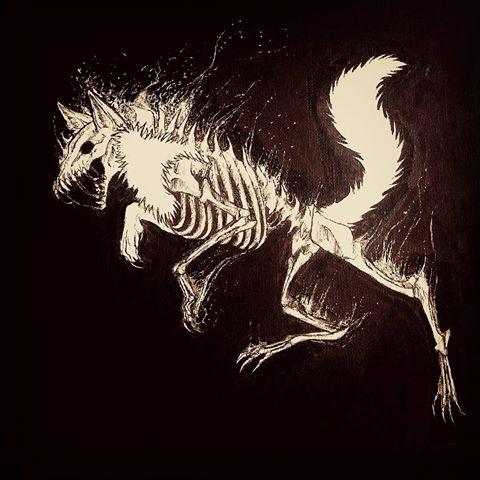 Drawn sleleton traditional # and Vanvlack Unfinished #art