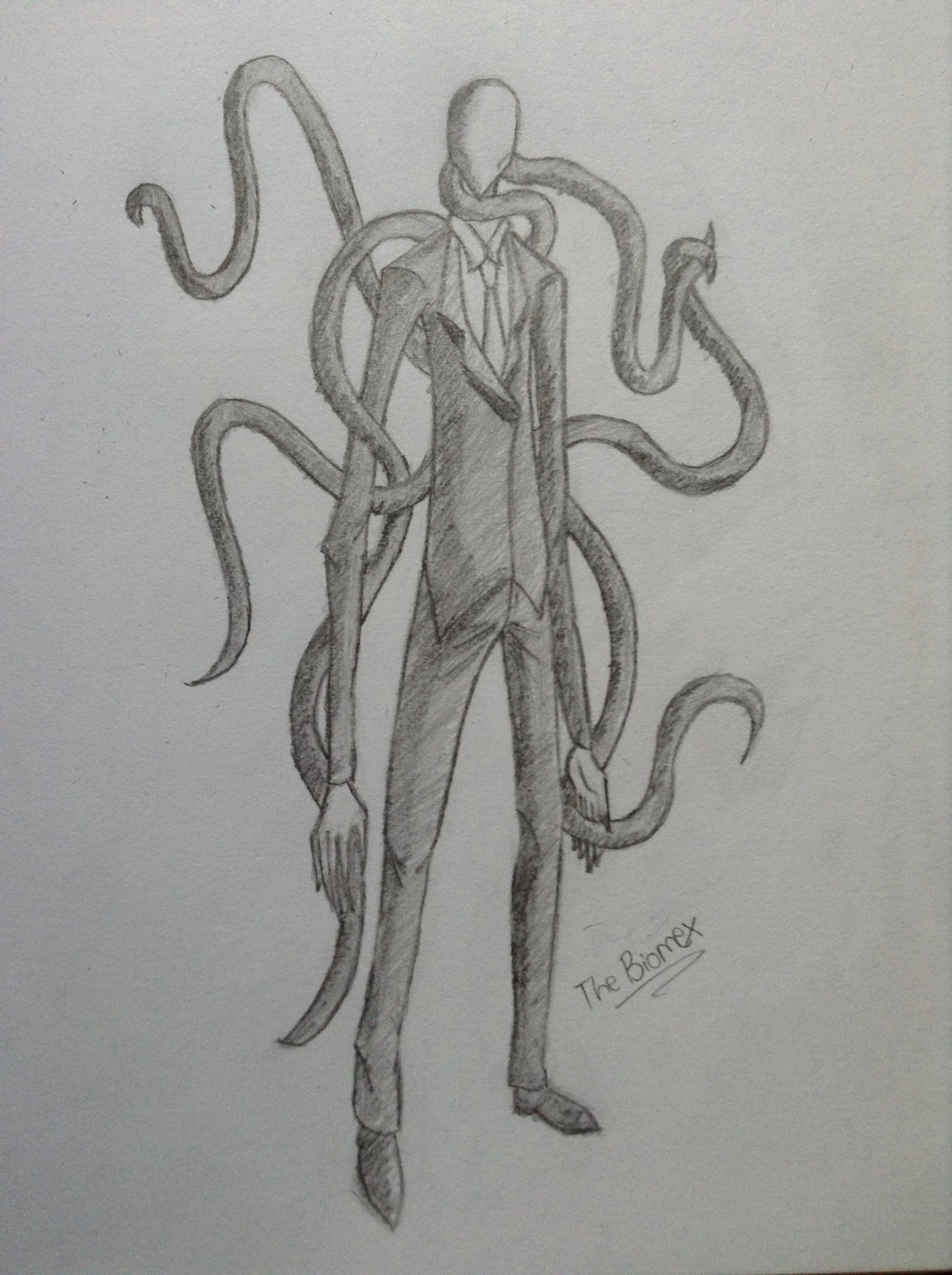 Drawn slenderman Slender The Man  sketchbook