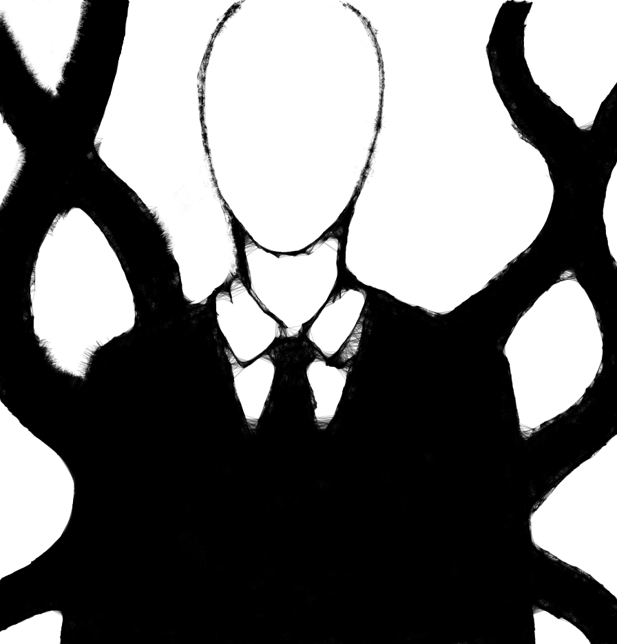Drawn slenderman By Man paronomasial Slender Man