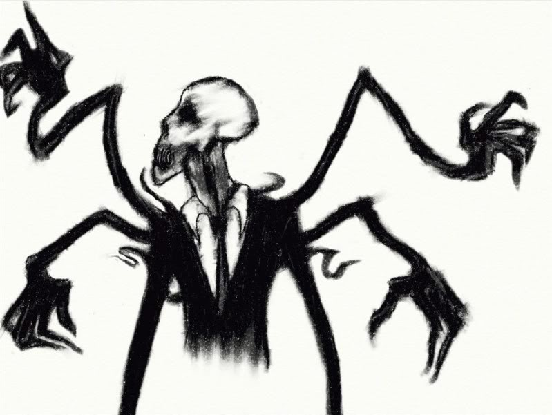 Drawn slender man The Paranormal Create Awful Images