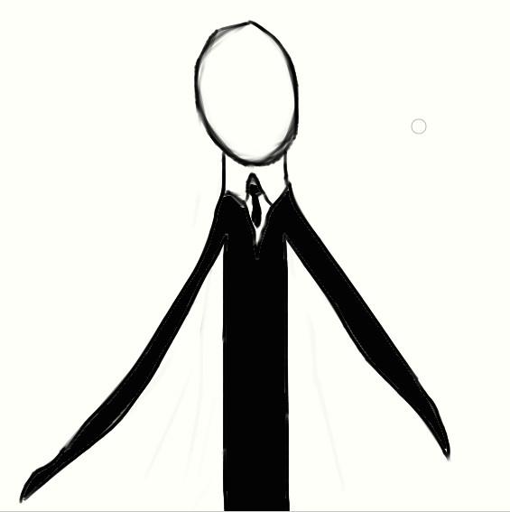 Drawn slender man Starwolf66 DeviantArt by XD Drawn