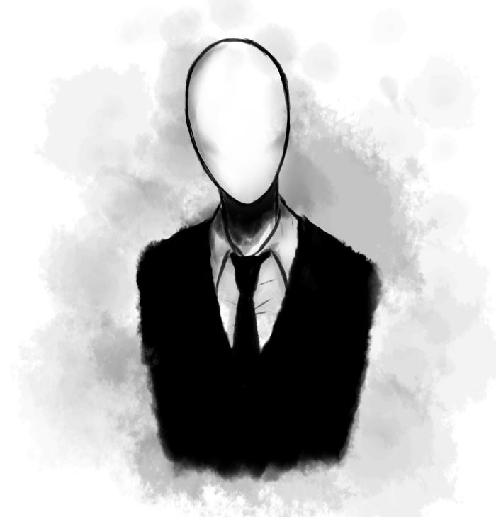 Drawn slenderman creepy Version FNAF3  faces com