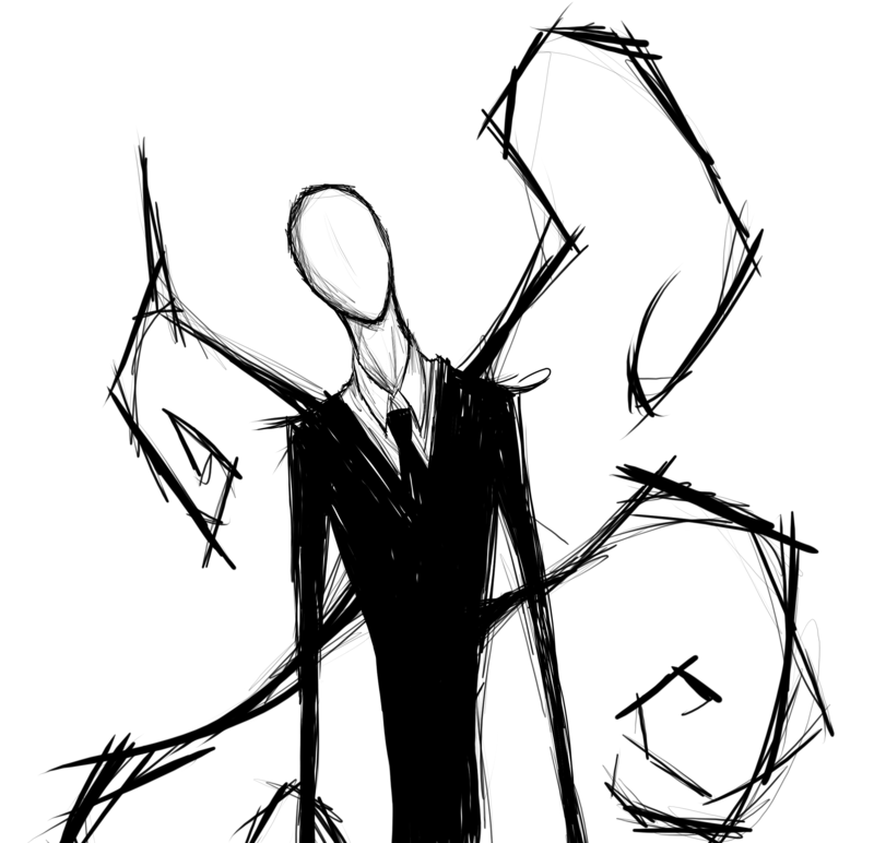 Drawn slenderman By man BrokenDoll777 Slender on