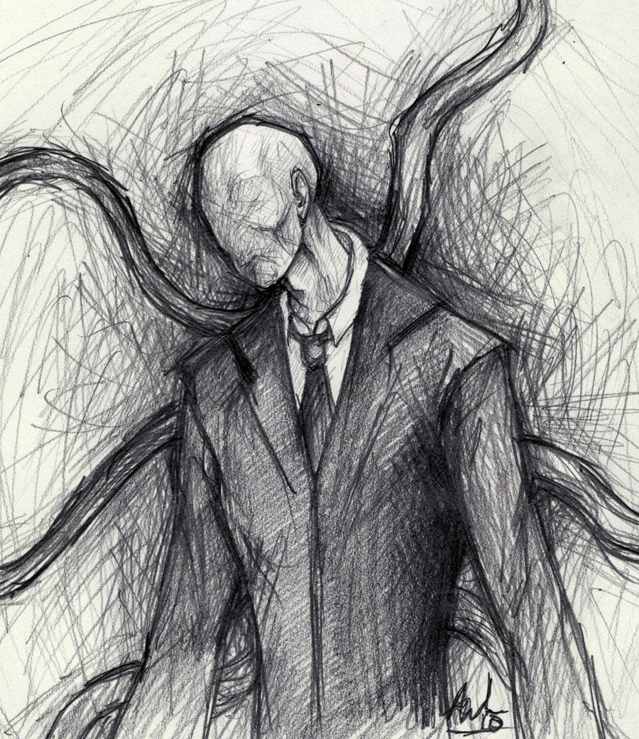 Drawn slenderman By DeviantArt ButtsForCharity Slender Man