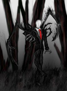 Drawn slenderman alien #Slender men Soul com by