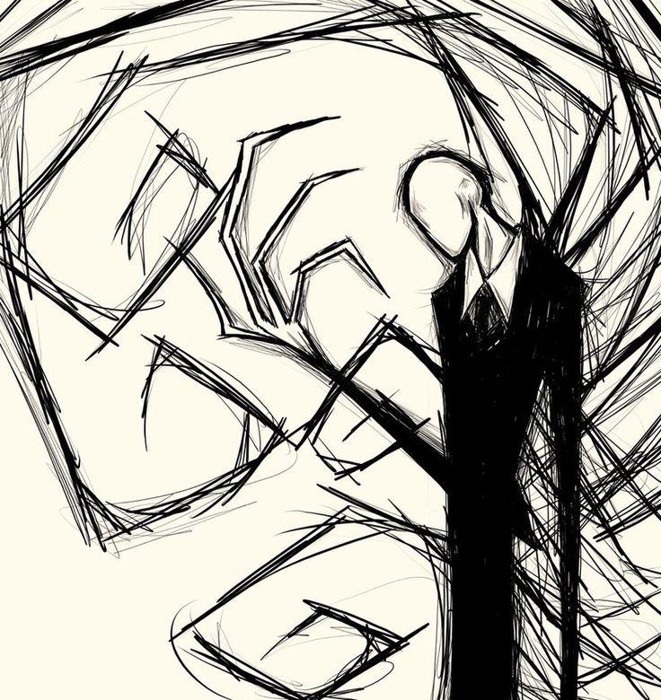 Drawn slenderman alien On this SLENDER and MAN