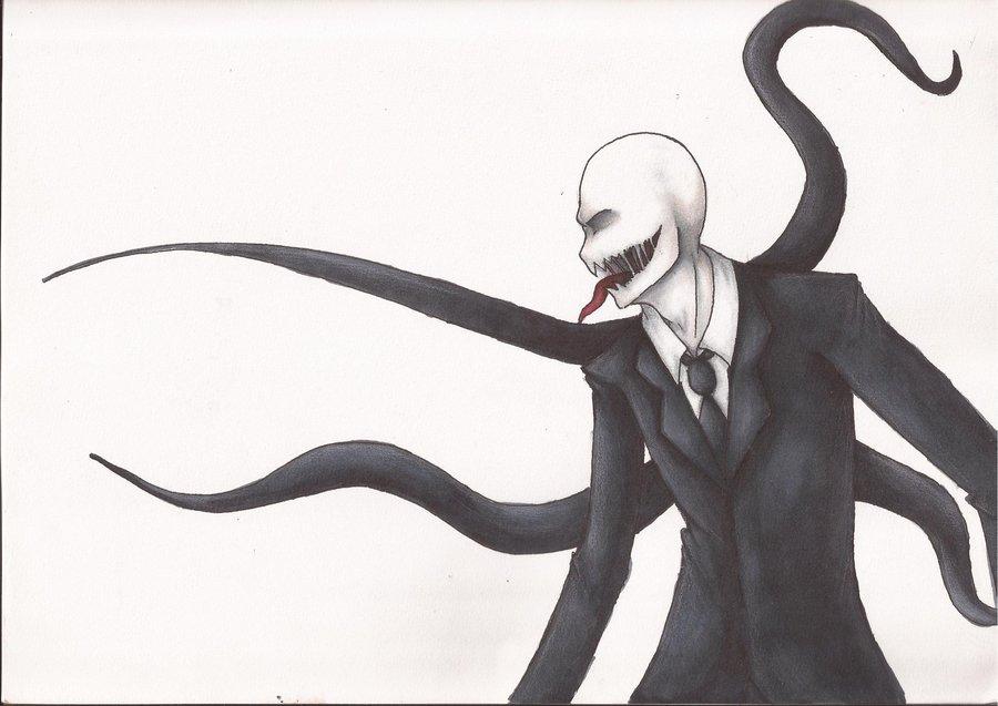 Drawn slenderman anime Morisaurus on Morisaurus WIP by