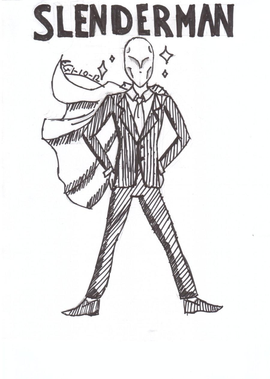 Drawn slenderman anime On DeviantArt girl by anime