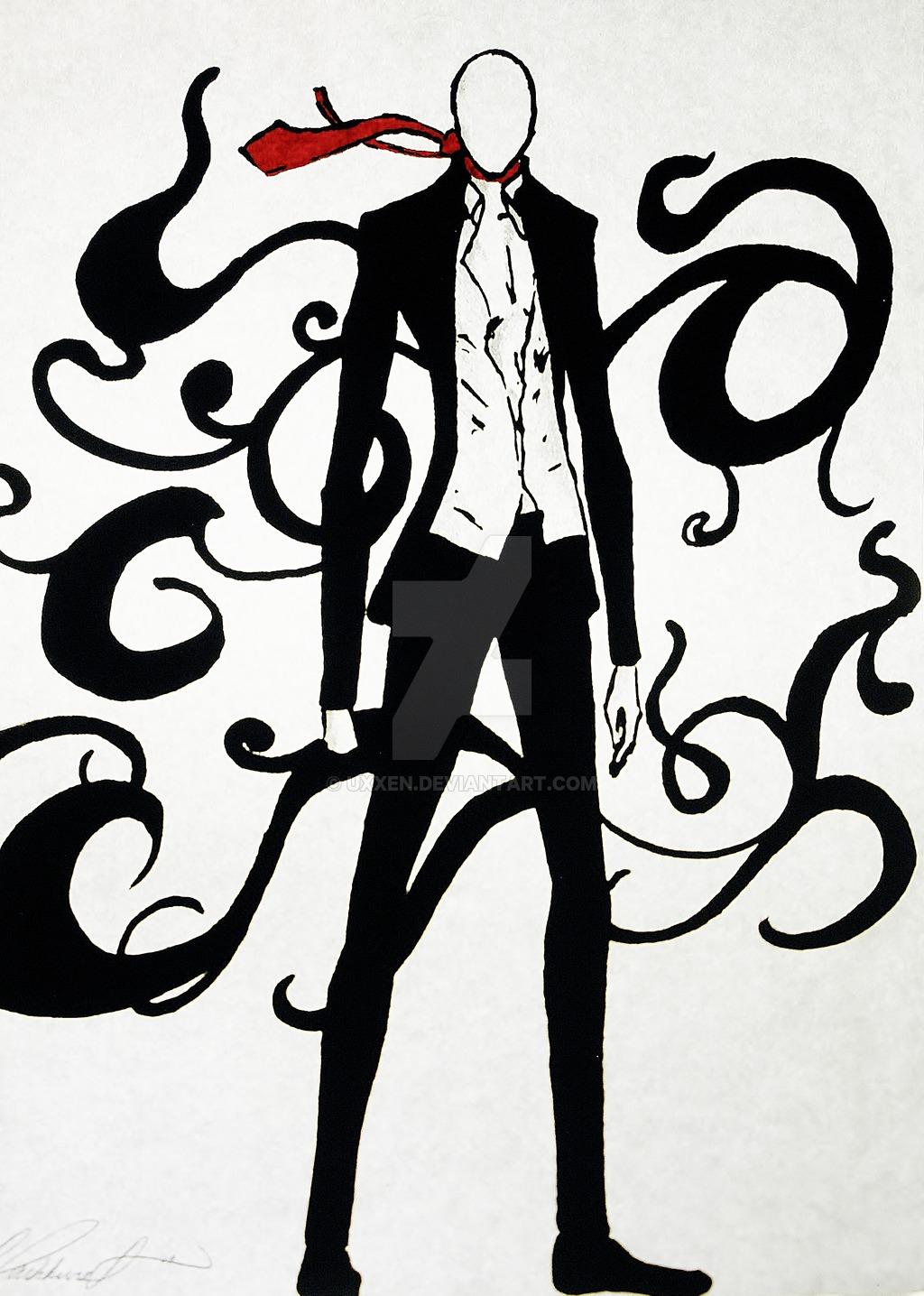 Drawn slender man anime Uxxen Man Man Slender Man