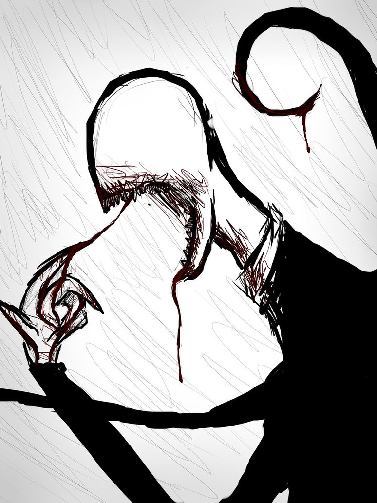 Drawn slender man awesome By BlondieGurl1129 on by by
