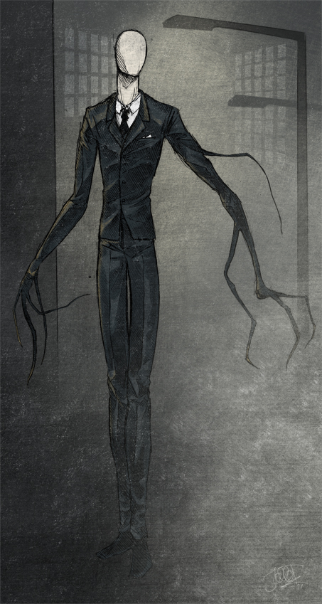 Drawn slender man awesome Deviantart com Hoodd  Man