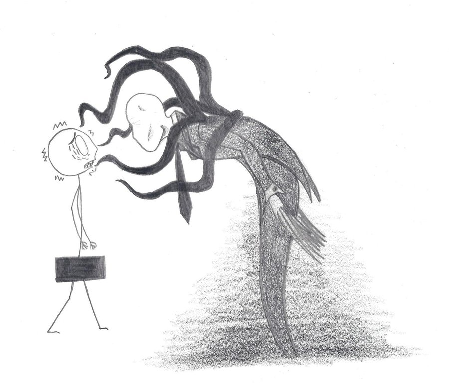 Drawn slender man cartoon Slender Censor Censor Man Man