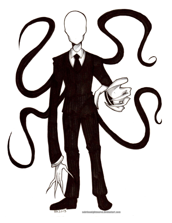 Drawn slender man cartoon TransparentPastas: SabrinaNightmaren SabrinaNightmaren by on