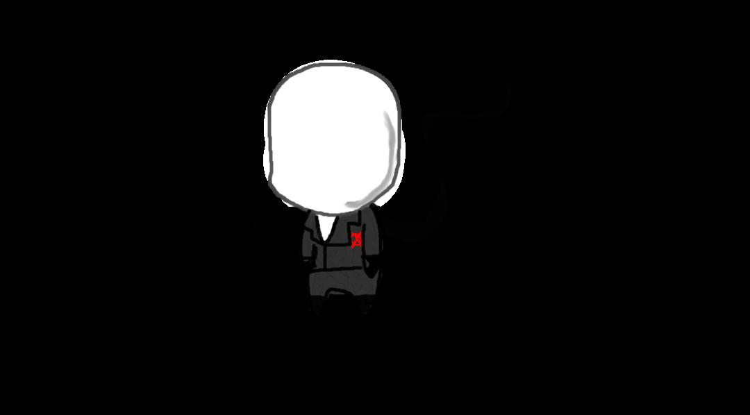 Drawn slender man chibi Slenderman DeviantArt Chibi by on