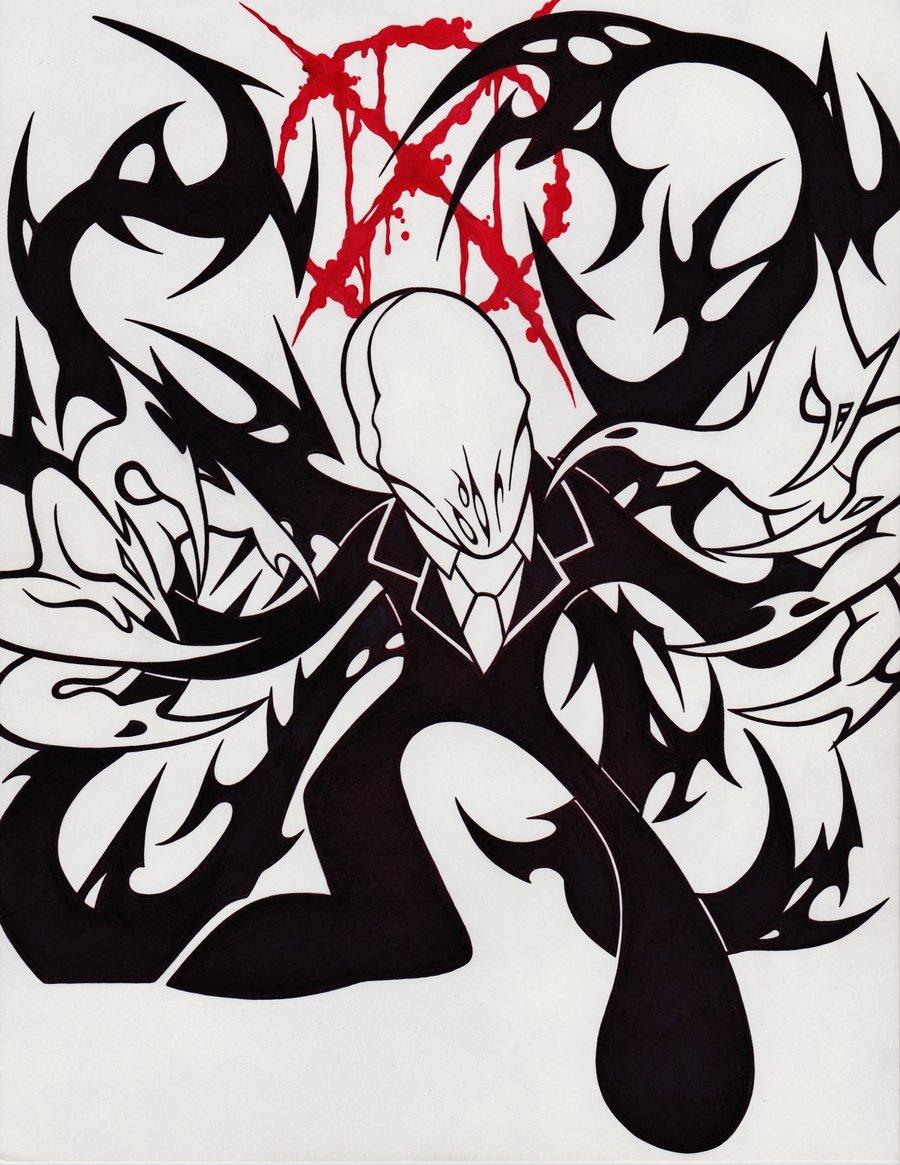 Drawn slender man chibi N2 by ECHOES  DeviantArt