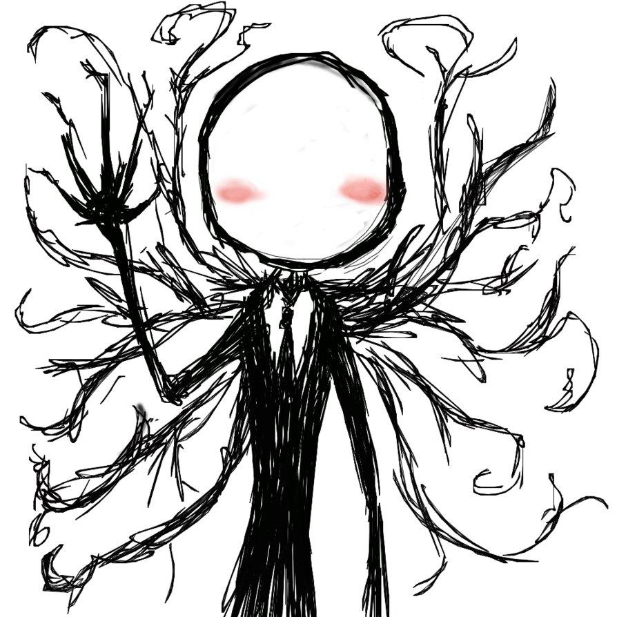 Drawn slender man chibi Chibi DeviantArt Slenderman by on