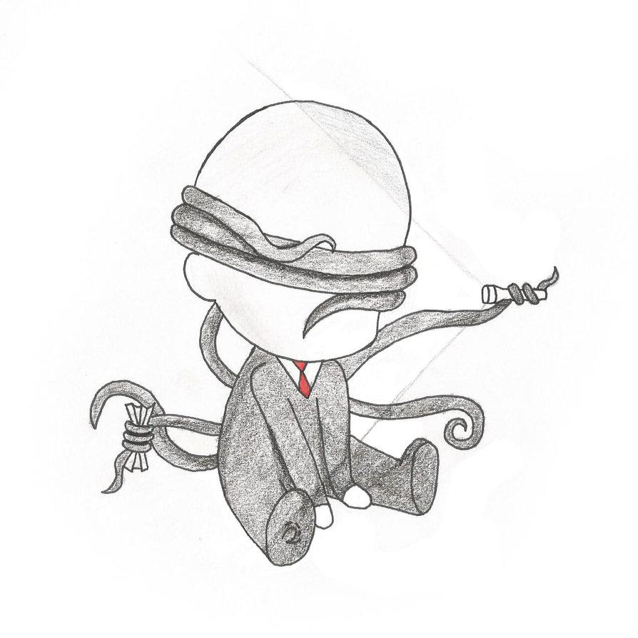 Drawn slender man chibi Chibi rebecca9965 on Chibi Man