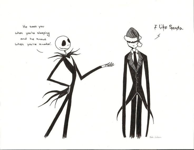 Drawn slenderman christmas Pinterest Stirling Jack best images