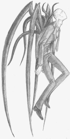 Drawn slender man creepy Don't why get He so