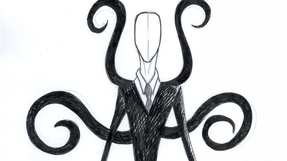 Drawn slenderman creepy Linked Man News Slender ABC