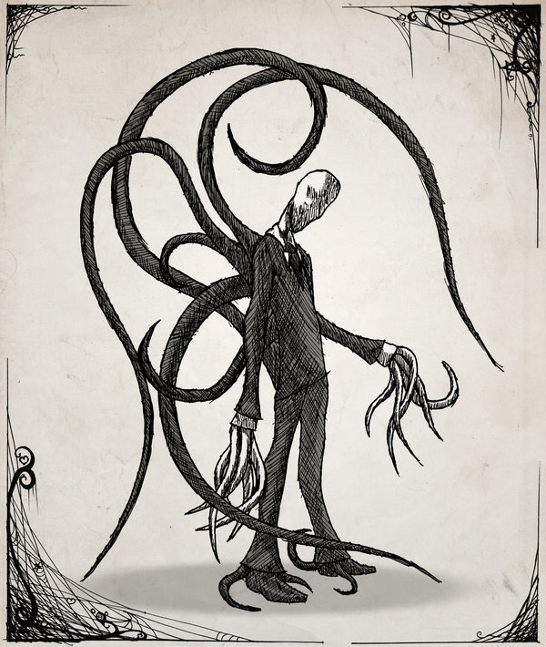 Drawn slenderman deviantart Man Man on Slender by