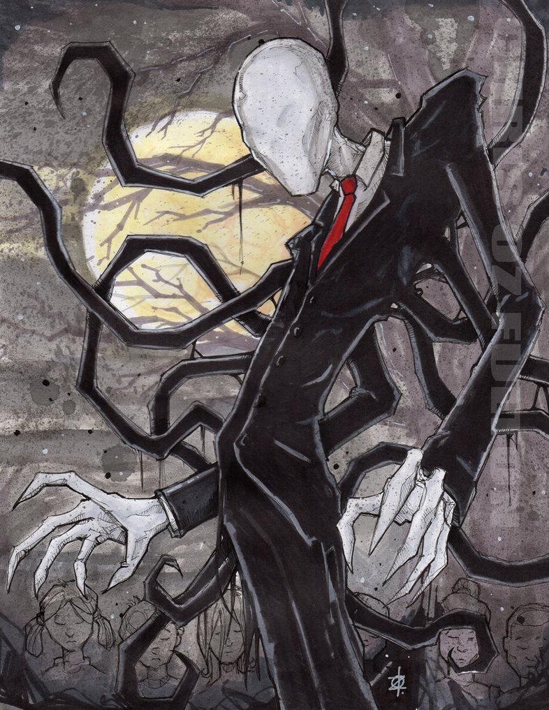 Drawn slenderman deviantart ChrisOzFulton by DeviantArt by Slenderman
