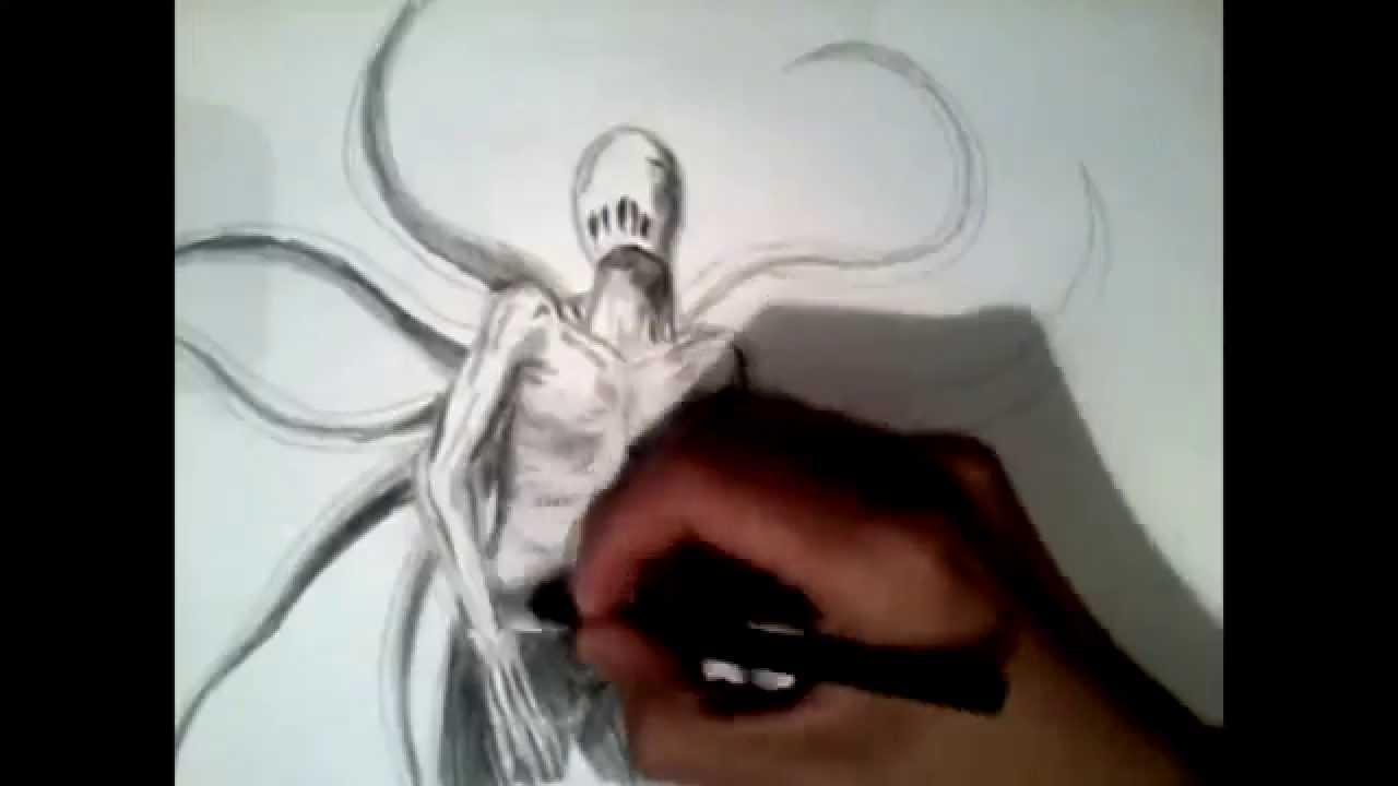Drawn slenderman creepy Slenderman/Creepypasta dibujar YouTube slenderman/como Slenderman/Creepypasta