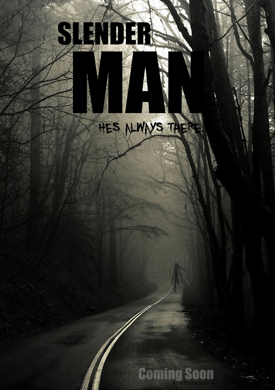Drawn slender man hidden Poster Man by  Man