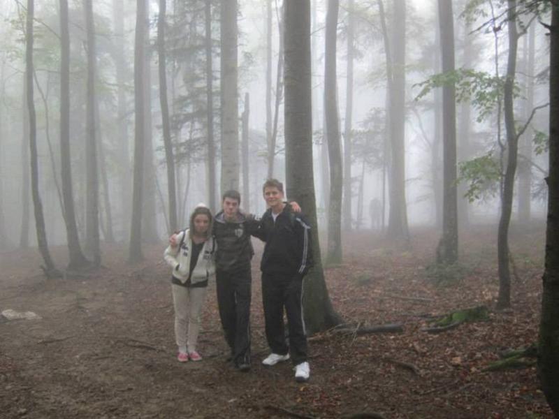 Drawn slender man landscape Day The Man Slender Woods