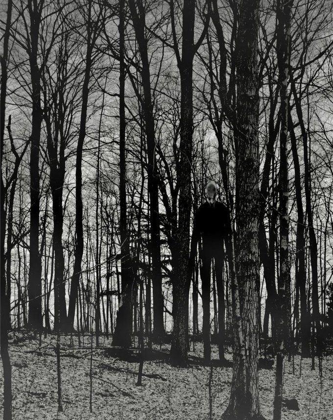 Drawn slender man landscape On Man Pinterest Man Slender