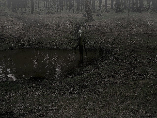 Drawn slender man landscape Slender on 36 Pinterest best