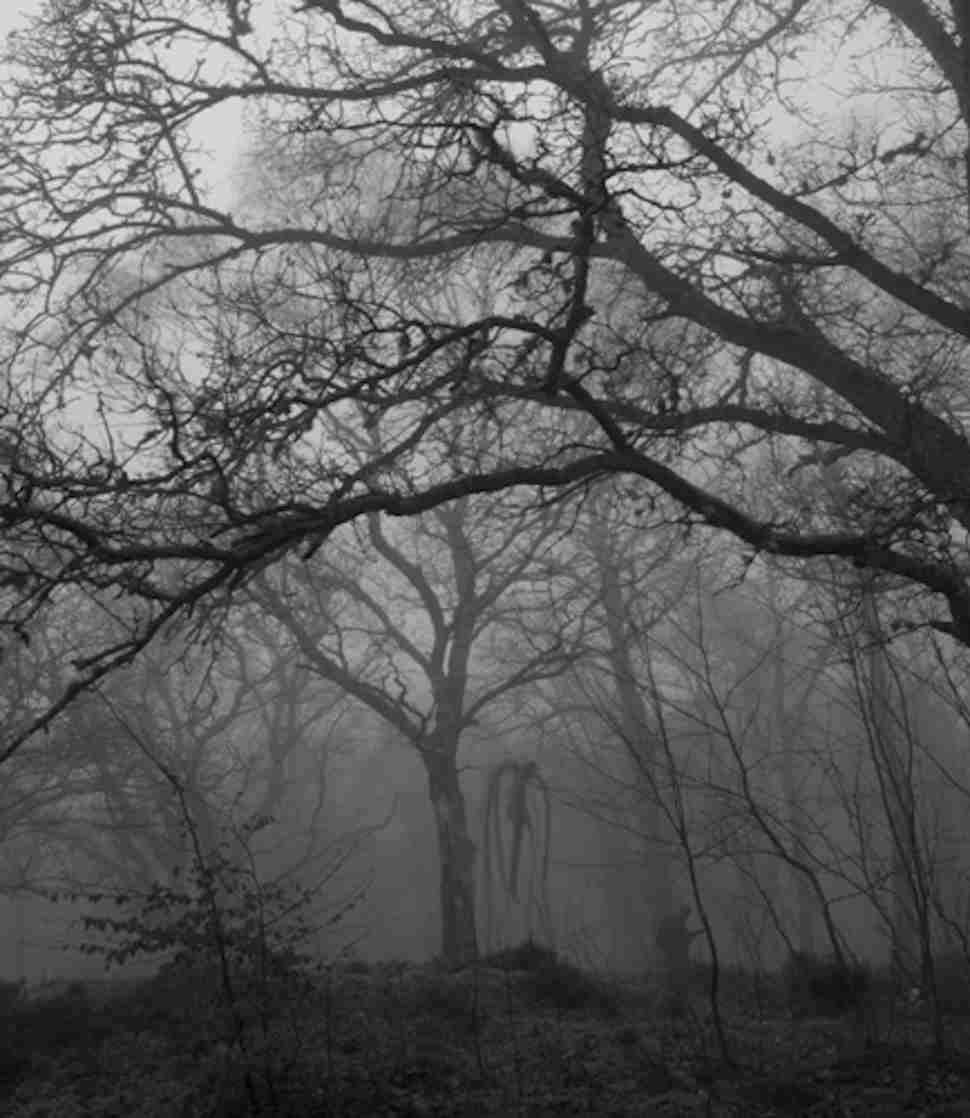 Drawn slender man landscape Real Murders Behind & Who