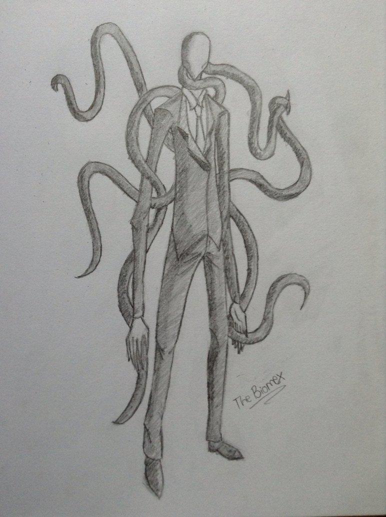 Drawn slenderman creepy My Man Man DeviantArt my