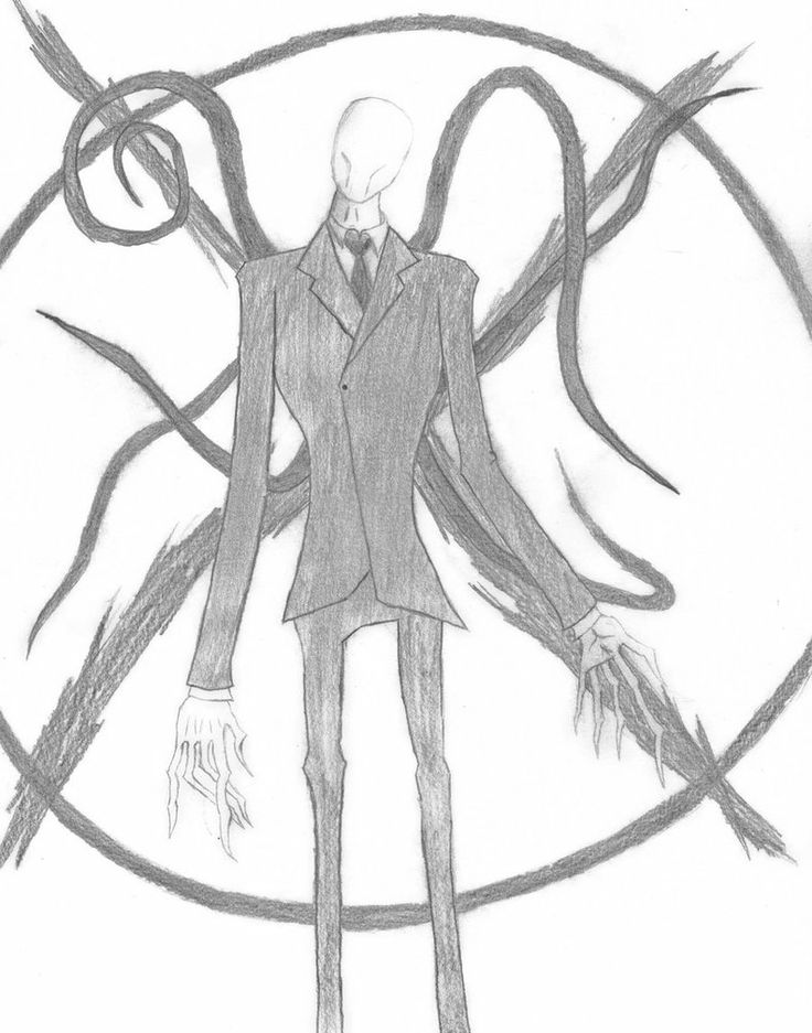 Drawn slender man simple Slender Drawings Best on images