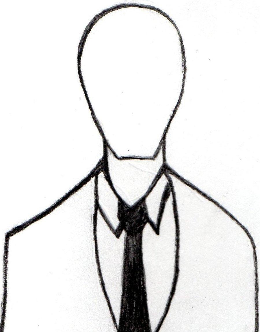 Drawn slender man simple Drawings Gallery of Simple Slender