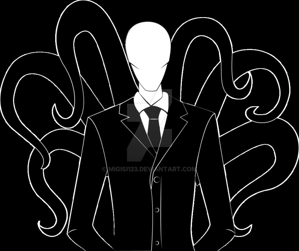 Drawn slenderman transparent Transparent images Man Man Images