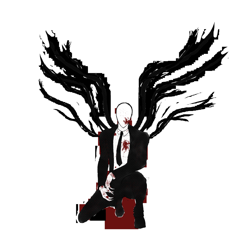 Drawn slenderman transparent Page made Slenderman at Art