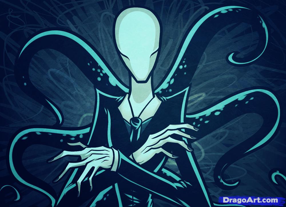Drawn slender man anime Man man Slenderman slender to