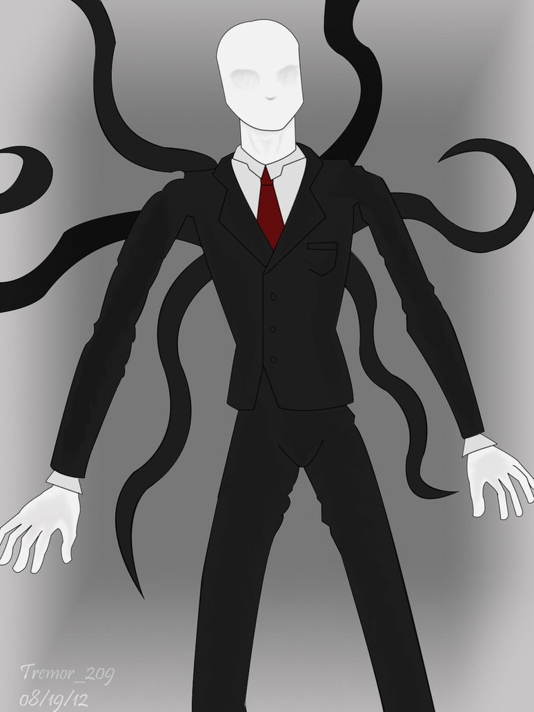 Drawn slenderman By DeviantArt tremor209 Slender Man