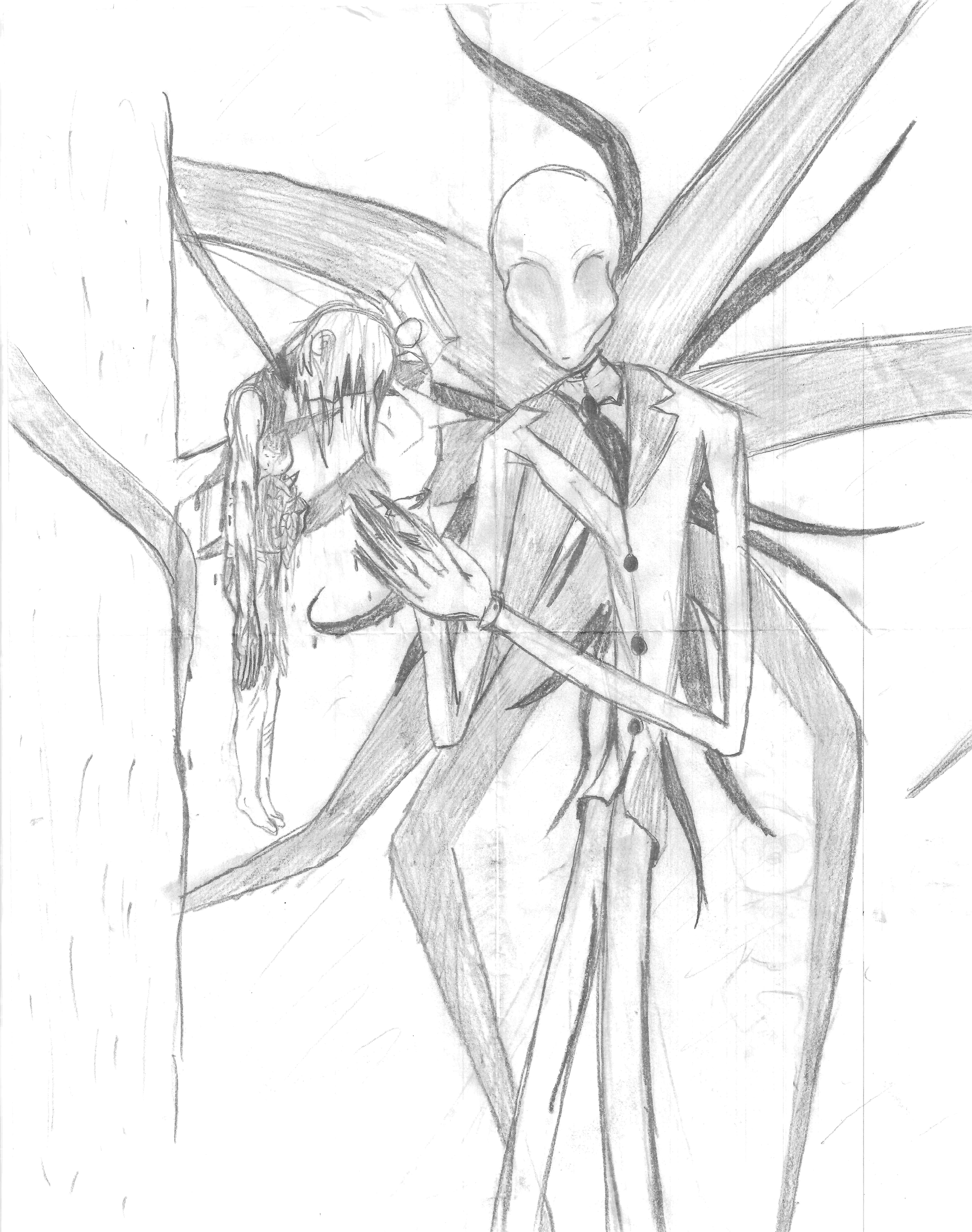 Drawn slenderman alien © Drawing Drawing Slenderman nitsua13