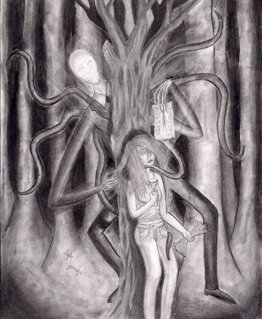 Drawn slenderman awesome By by by found found