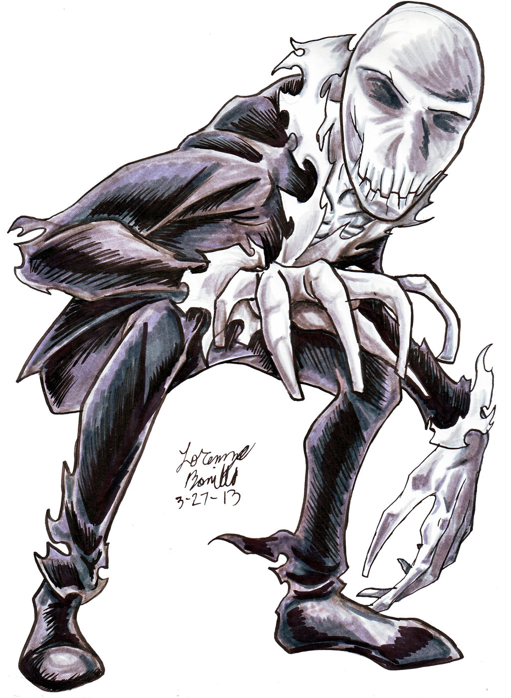 Drawn slenderman awesome Drawing Drawing on Slender Second