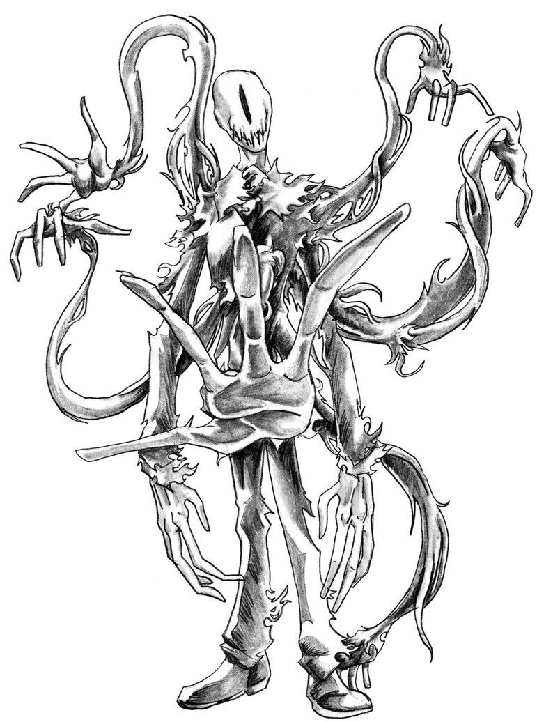 Drawn slenderman awesome By by DeviantArt Man 19