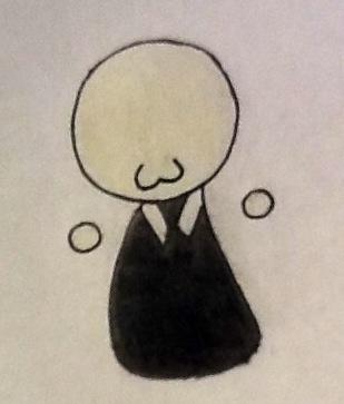 Drawn slender man chibi Awkward Man Tentacle Slender DeviantArt