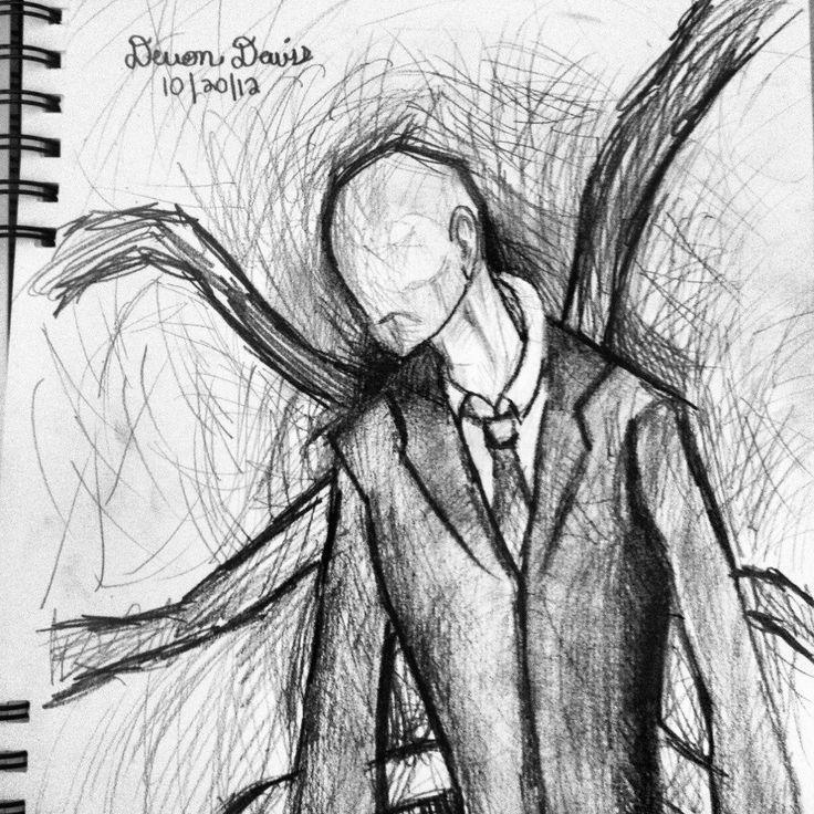 Drawn slenderman couple sketch 49 slender devondavis best fantasy